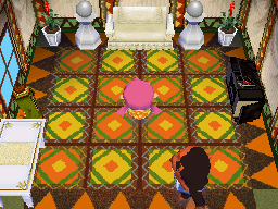 Interior of Cesar's house in Animal Crossing: Wild World