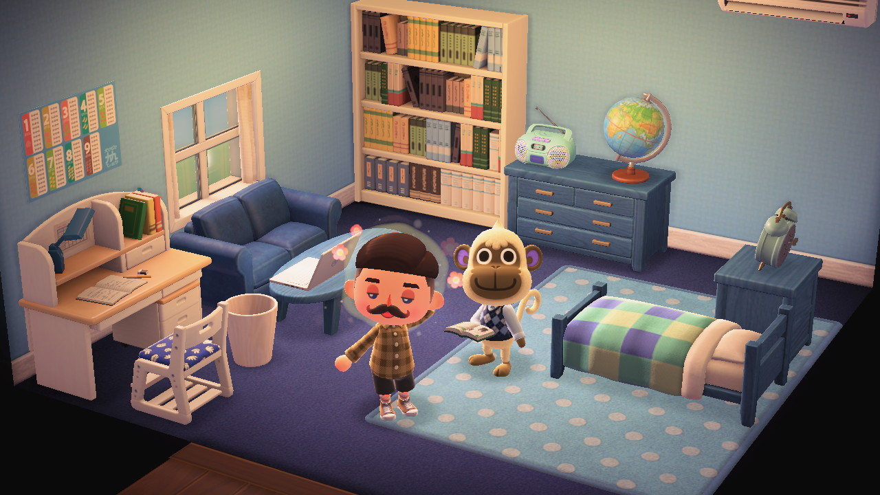Interior of Deli's house in Animal Crossing: New Horizons