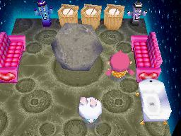 Interior of Ruby's house in Animal Crossing: Wild World