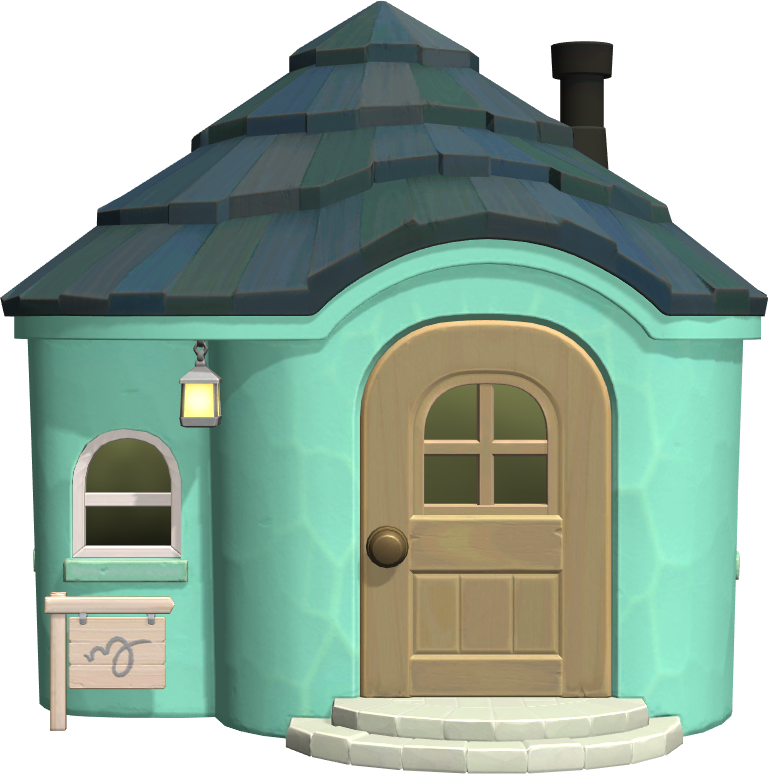 Exterior of Mint's house in Animal Crossing: New Horizons