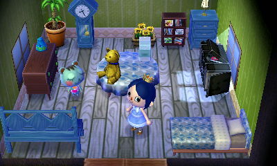 Interior of Mint's house in Animal Crossing: New Leaf