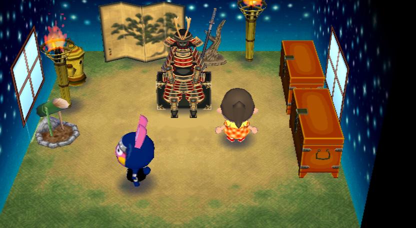 Interior of Snake's house in Animal Crossing: City Folk