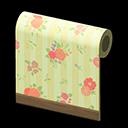 Yellow Flower-Print Wall