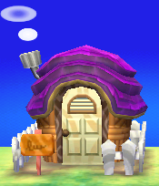 Exterior of Merry's house in Animal Crossing: New Leaf