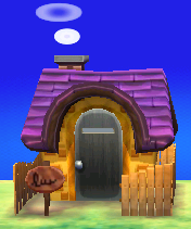 Exterior of Kiki's house in Animal Crossing: New Leaf