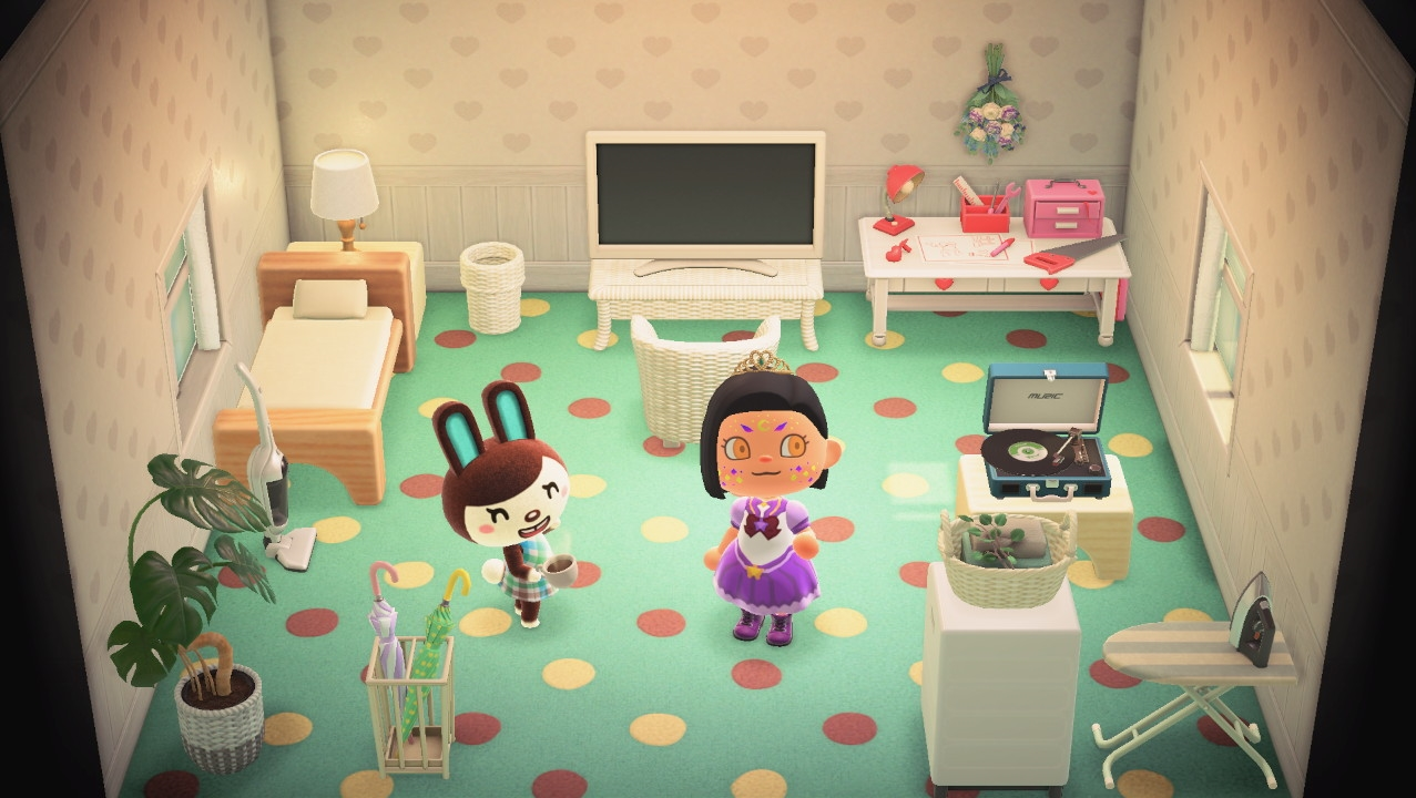 Interior of Carmen's house in Animal Crossing: New Horizons