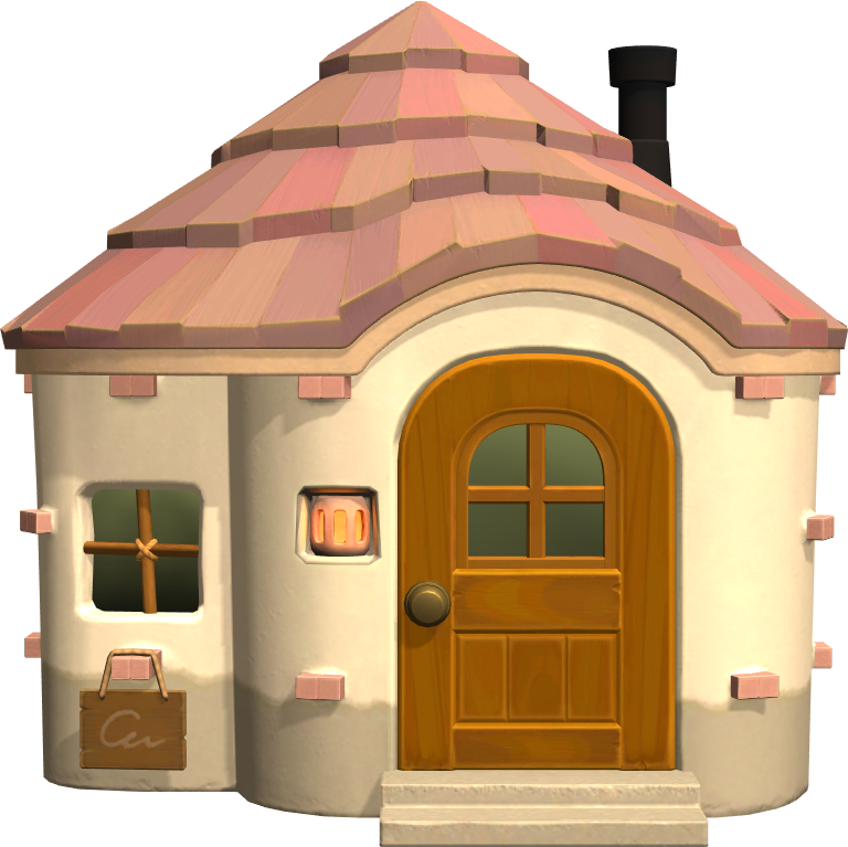 Exterior of Cookie's house in Animal Crossing: New Horizons