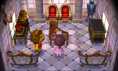 Interior of Elvis's house in Animal Crossing: New Leaf