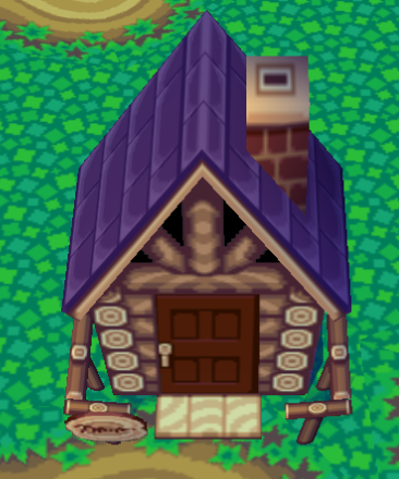 Exterior of Lobo's house in Animal Crossing