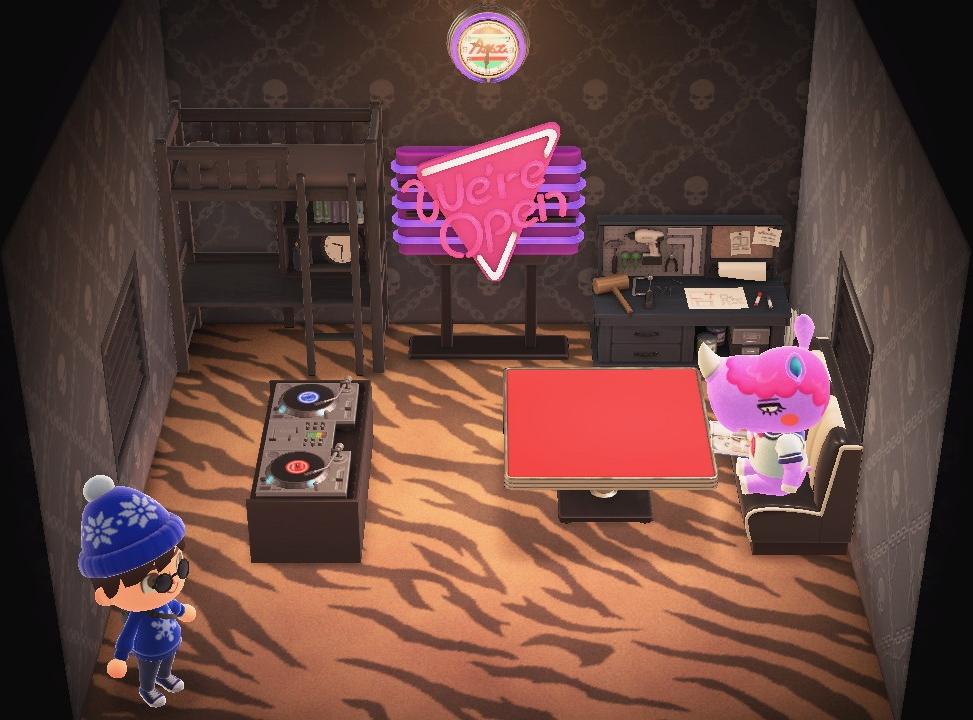 Interior of Renée's house in Animal Crossing: New Horizons