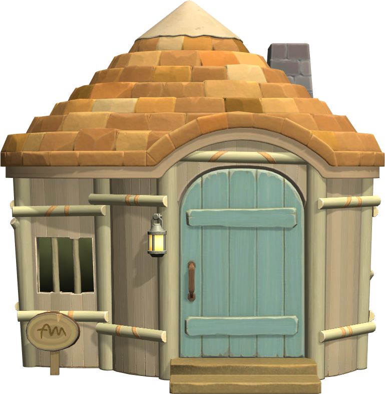 Exterior of Lopez's house in Animal Crossing: New Horizons