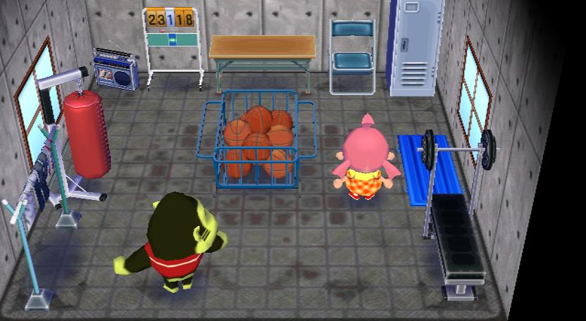 Interior of Al's house in Animal Crossing: City Folk