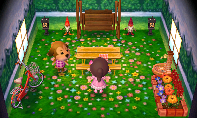 Interior of Maddie's house in Animal Crossing: New Leaf