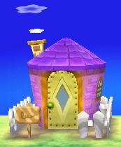 Exterior of Midge's house in Animal Crossing: New Leaf