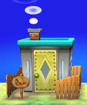 Exterior of Spike's house in Animal Crossing: New Leaf