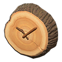 Log Wall-Mounted Clock
