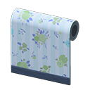 Blue Flower-Print Wall