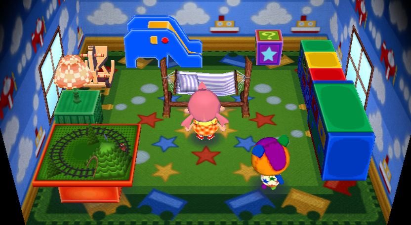 Interior of Stitches's house in Animal Crossing: City Folk