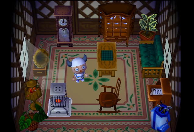 Interior of Cupcake's house in Animal Crossing