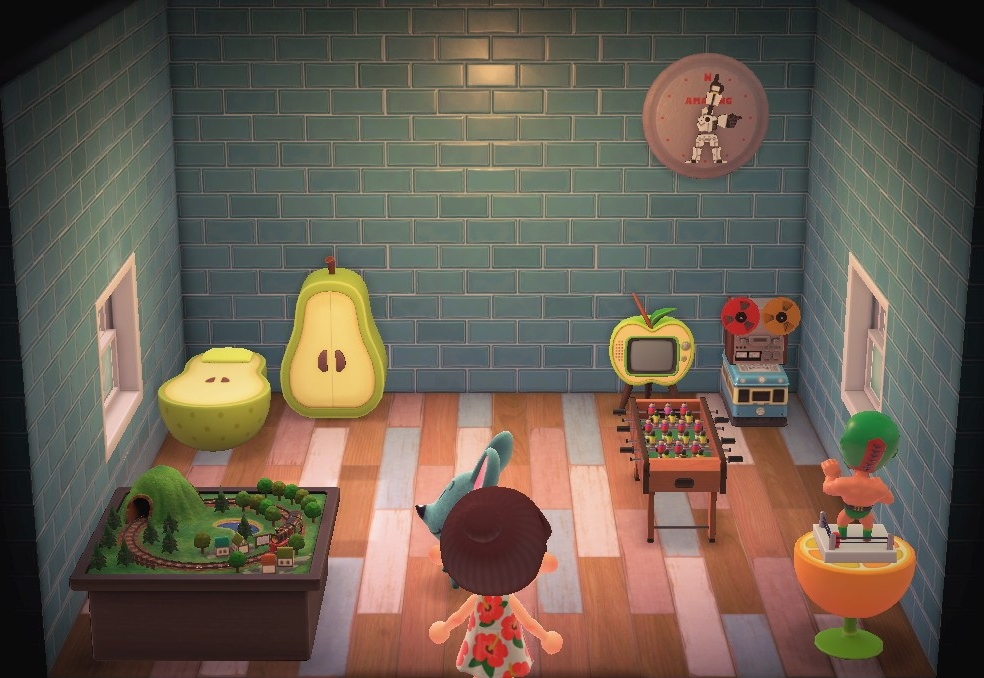 Interior of Samson's house in Animal Crossing: New Horizons