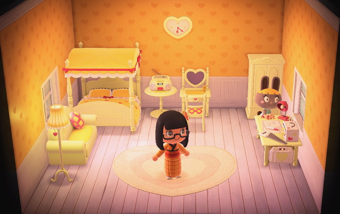 Interior of Bonbon's house in Animal Crossing: New Horizons