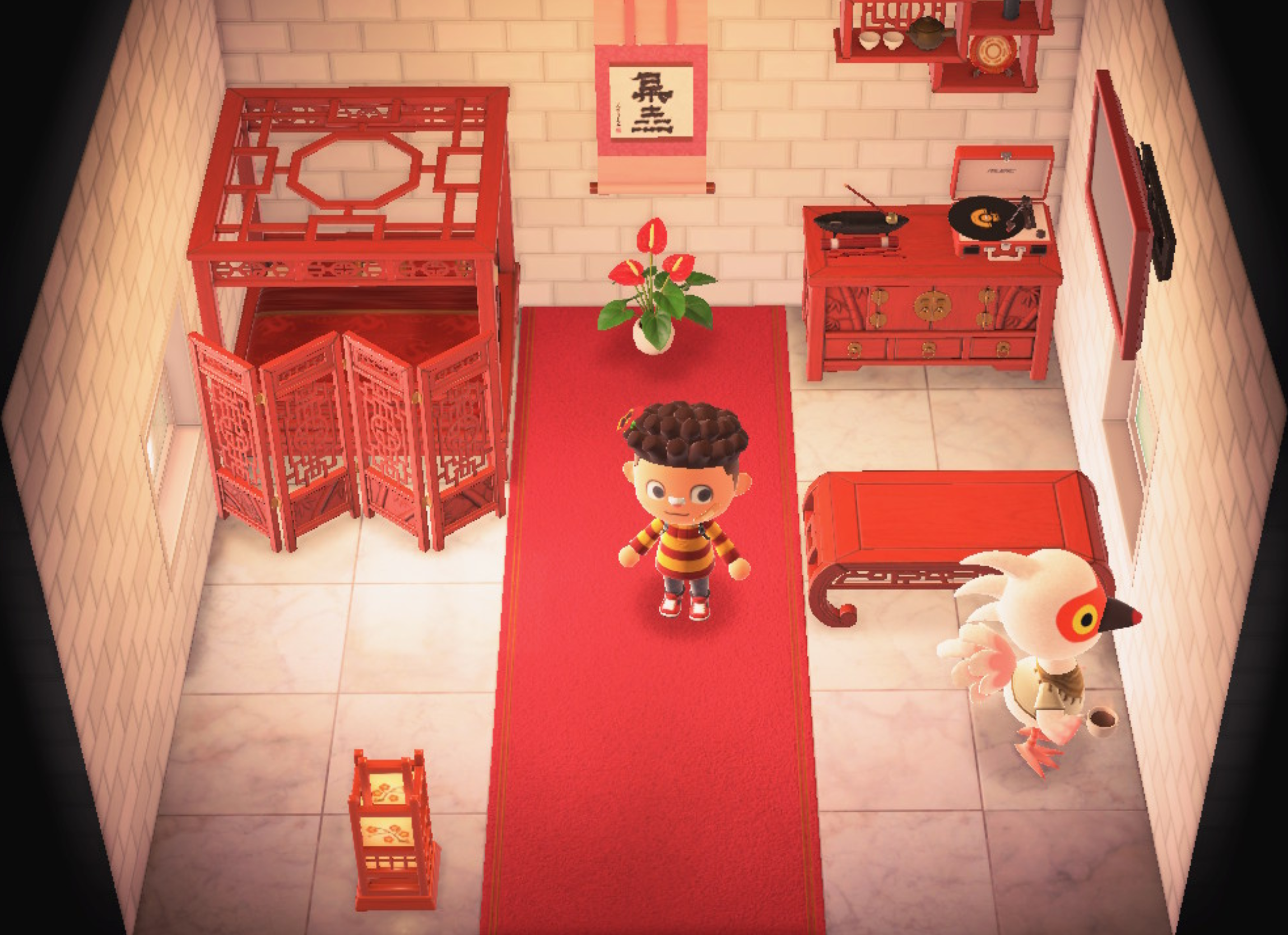 Interior of Cranston's house in Animal Crossing: New Horizons