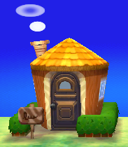 Exterior of Huck's house in Animal Crossing: New Leaf