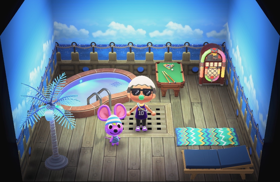 Interior of Rod's house in Animal Crossing: New Horizons