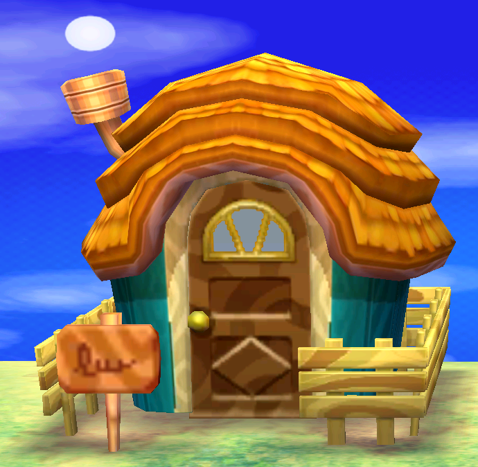 Exterior of Leopold's house in Animal Crossing: New Leaf
