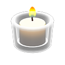 Glass Holder with Candle
