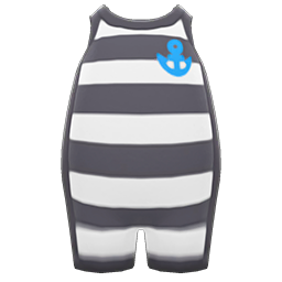 Horizontal-Striped Wet Suit