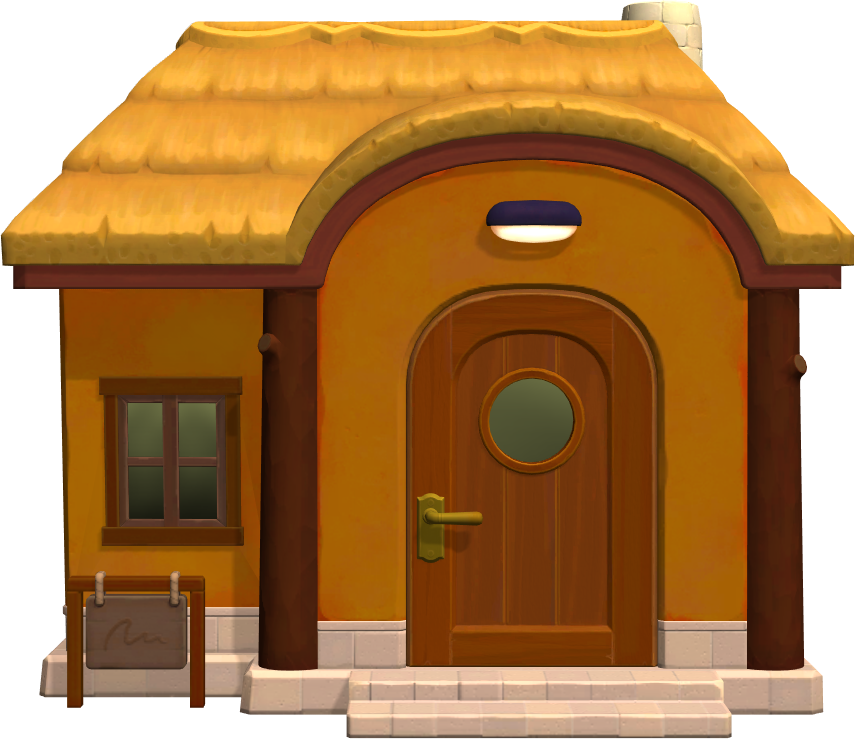 Exterior of Victoria's house in Animal Crossing: New Horizons