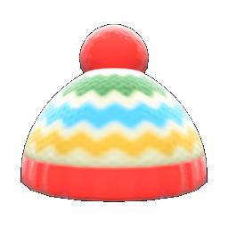 Colorful Striped Knit Cap