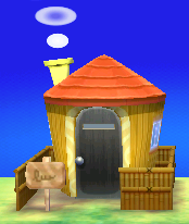 Exterior of Inkwell's house in Animal Crossing: New Leaf