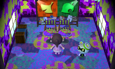 Interior of Viché's house in Animal Crossing: New Leaf
