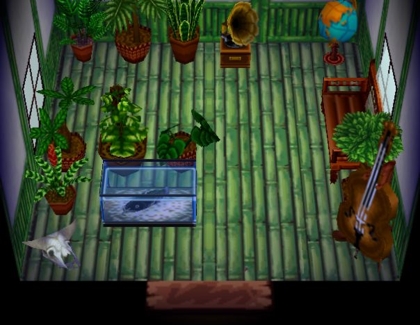 Interior of T-Bone's house in Animal Crossing