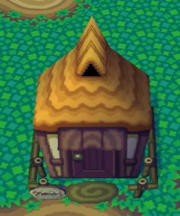 Exterior of Prince's house in Animal Crossing