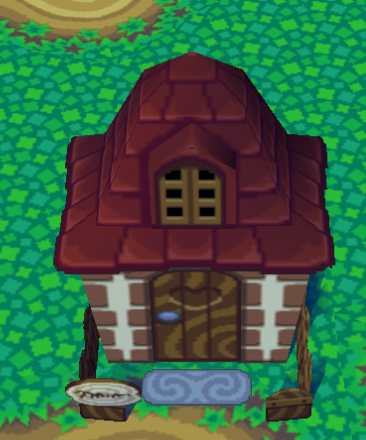 Exterior of Robin's house in Animal Crossing