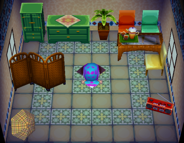Interior of Sally's house in Animal Crossing
