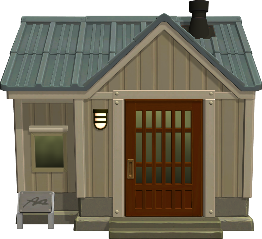 Exterior of Ike's house in Animal Crossing: New Horizons