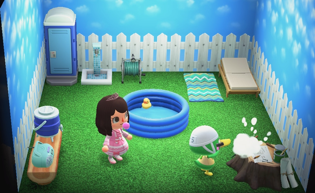 Interior of Scoot's house in Animal Crossing: New Horizons