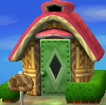 Exterior of Mint's house in Animal Crossing: New Leaf