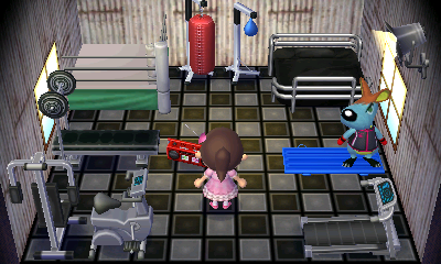 Interior of Rooney's house in Animal Crossing: New Leaf