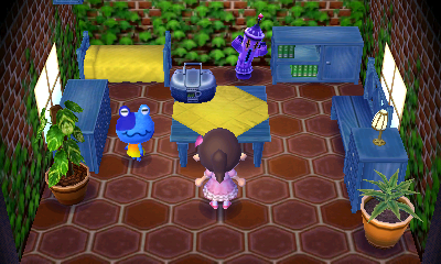 Interior of Jeremiah's house in Animal Crossing: New Leaf