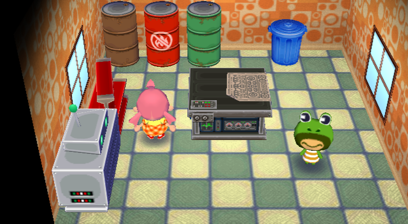 Interior of Prince's house in Animal Crossing: City Folk