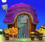 Exterior of Rasher's house in Animal Crossing: New Leaf