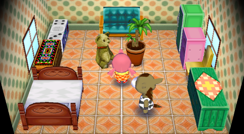 Interior of Winnie's house in Animal Crossing: City Folk