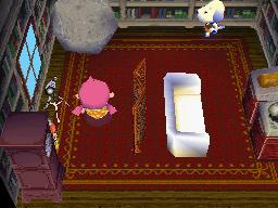 Interior of Daisy's house in Animal Crossing: Wild World