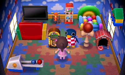 Interior of Roald's house in Animal Crossing: New Leaf