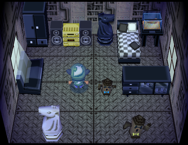 Interior of Rolf's house in Animal Crossing